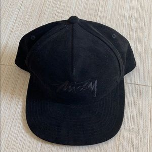 Brand new stussy faux suede hat